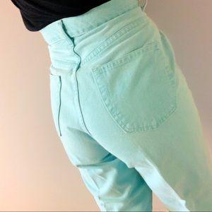 Vintage   90s   highwaisted turquoise jeans w/vest